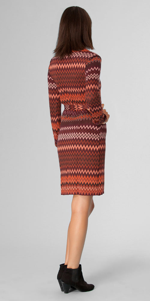 Red Zig Zag Knit Dress