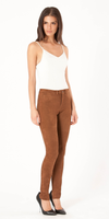 Chestnut Brown Ultra Suede Skinny Pants