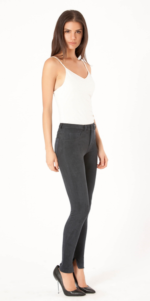 Dark Grey Ultra Suede Skinny Pants