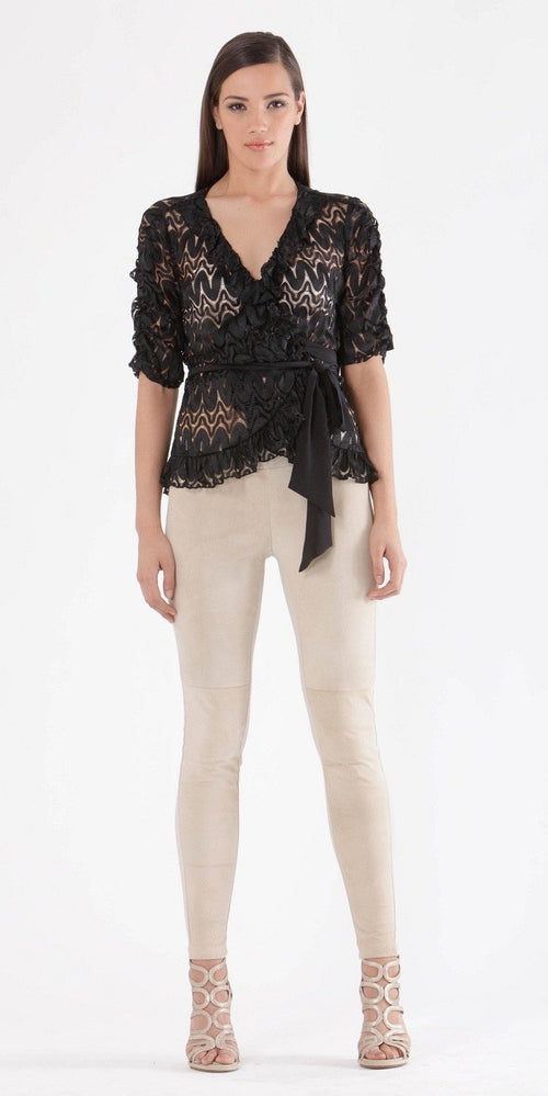Stretch Lace Wrap Top