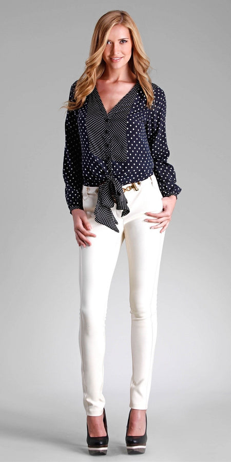 Floral Silk Button Down Blouse