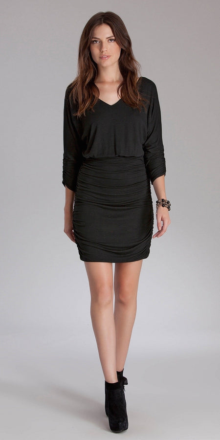 Fitted Turtleneck Shirt Dress