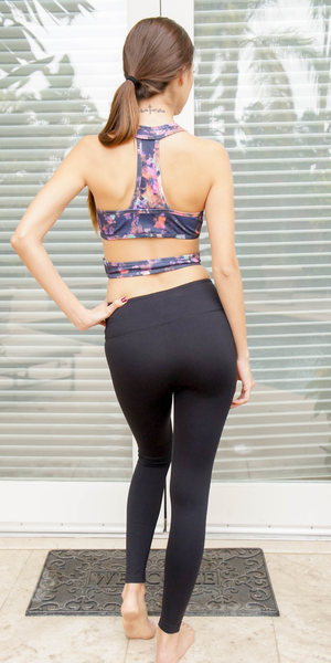 Black Nylon Compression Legging