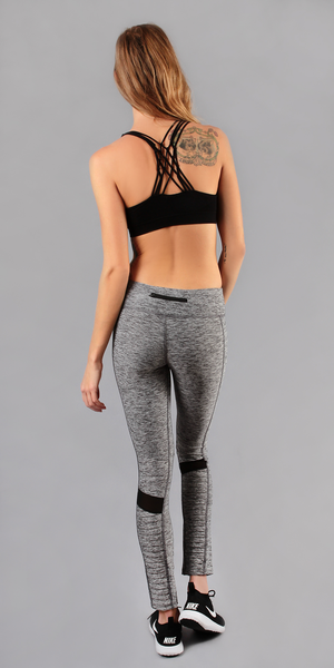 Grey Mesh Knee Motorcycle Legging