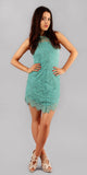 Fern Green Lace Slip Dress