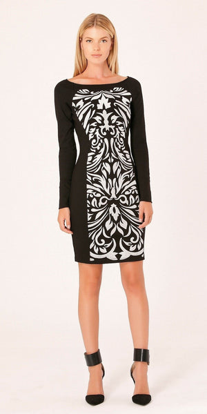Ivory Embroidered Sheath Dress