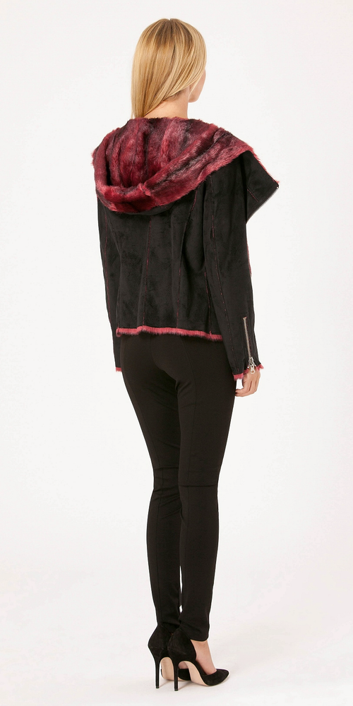 Black Rose Embossed Suede Leggings