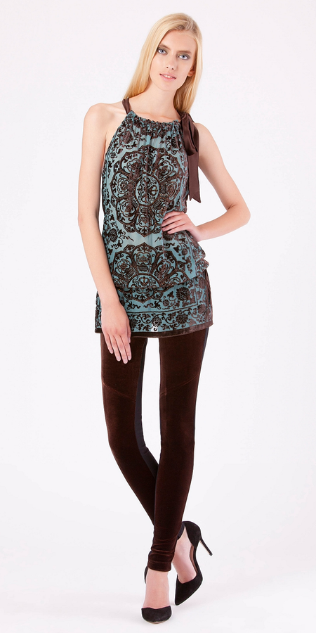Filigree Faux Suede Dress