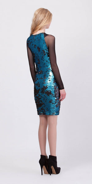 Blue Sequin Dress