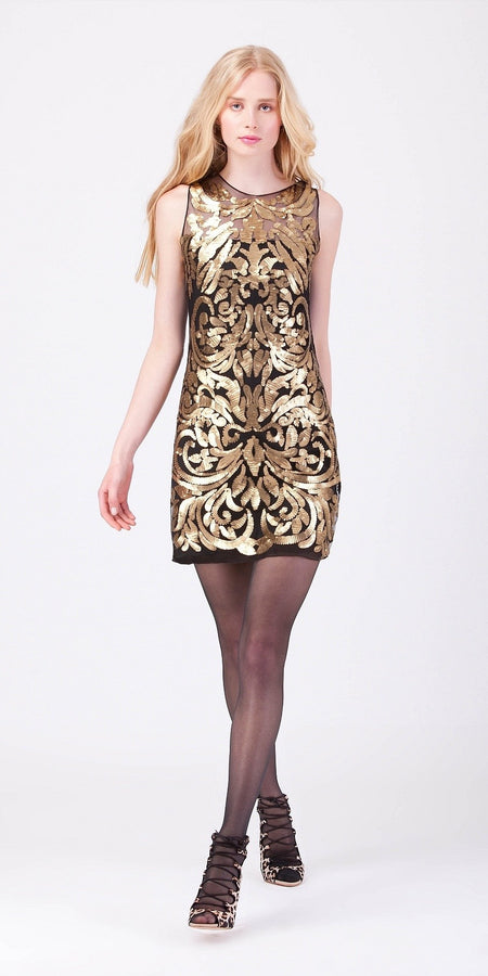 Studded Bronze Sequin Dress