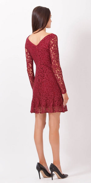 Fitted Peplum Lace Dress