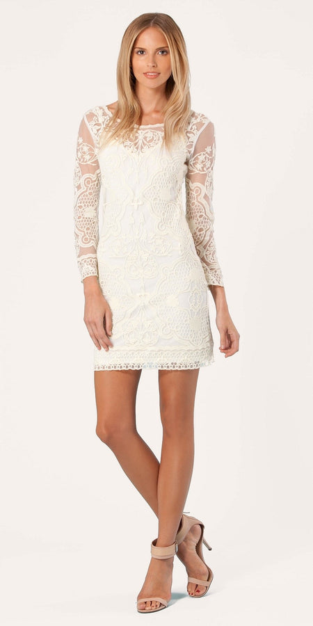 Flutter Sleeve Eyelet Peasant Dress