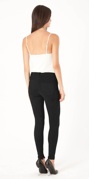 Black Ultra Suede Skinny Pants