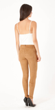 Camel Brown Ultra Suede Skinny Pants