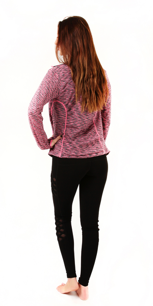 Pink Space Dye Seamless Jacket