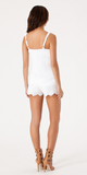 White Embroidered Cotton Tank Top