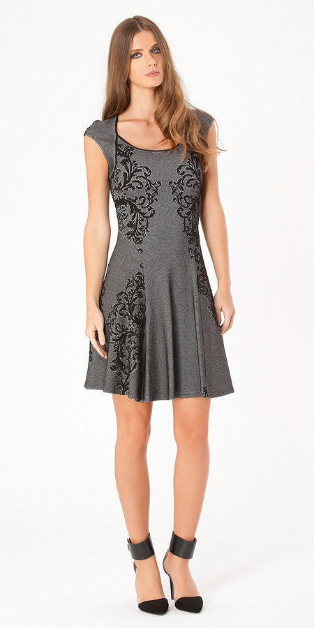 Metallic Matelassé Peplum Sheath Dress