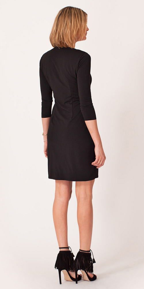 Black Beaded Jersey Shift Dress