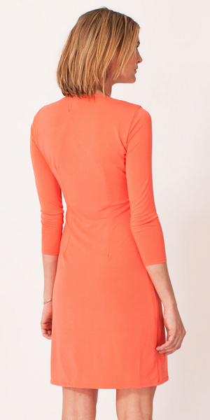Coral Beaded Jersey Shift Dress