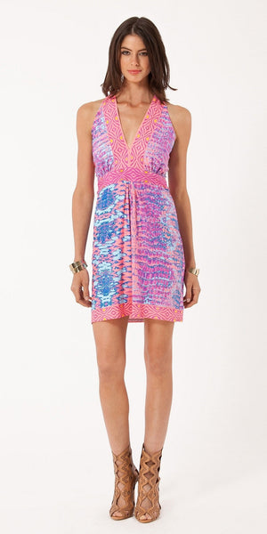 Sleeveless Pink Reptile Jersey Dress