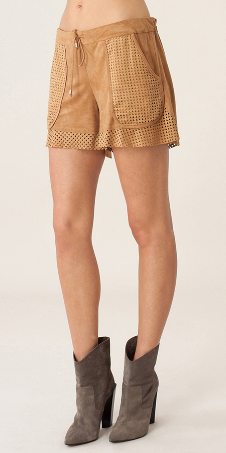 Belted Linen Girlfriend Shorts