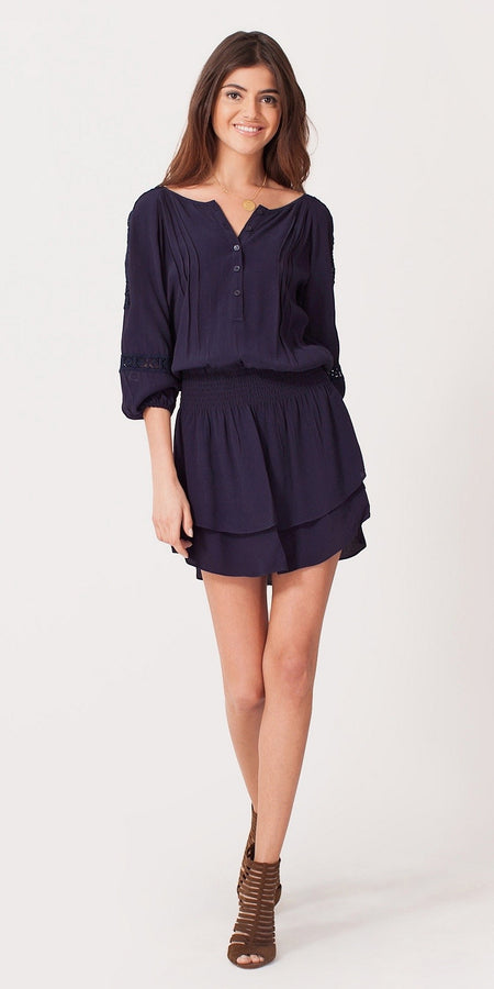 Black Lace Tunic Dress