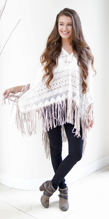 Lace And Terry Knit Jacket