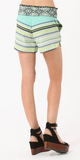 Smocked Printed Crepe Shorts