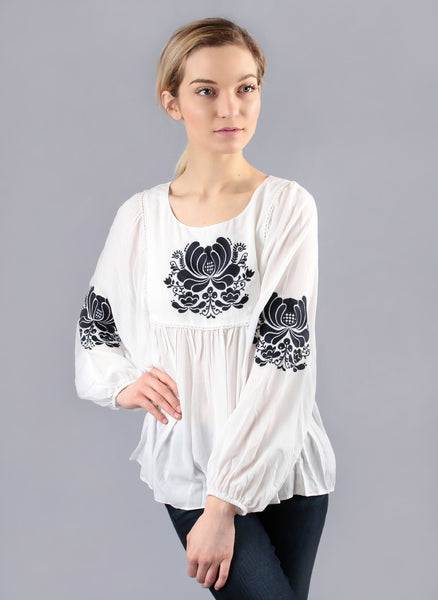 Ivory White Embroidered Tunic