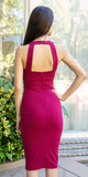 Berry Red Sweetheart Bodycon Dress