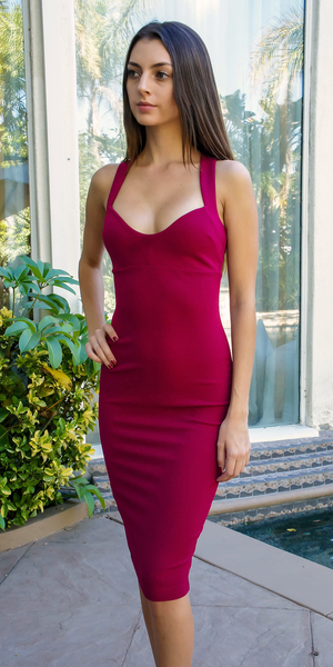 Red Sweetheart Bodycon Dress