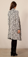 Jacquard Knit Sweatercoat
