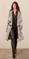 Black & White Jacquard Knit Sweatercoat