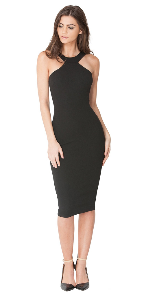 Halter Neck Knee Length Dress