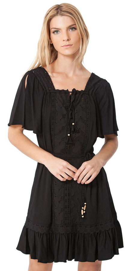 Blouson Off Shoulder Dress