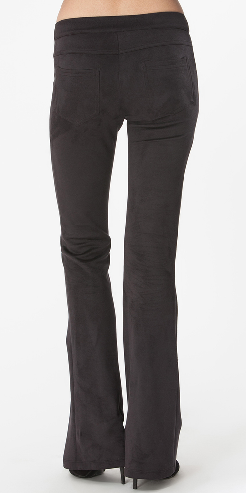 Black Suede Bootcut Pants