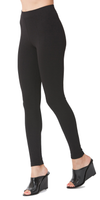 Black Heavy Stretch Ponte Leggings