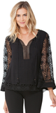 Black Jacquard Lace Top