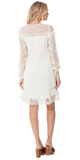 Ivory Long Sleeve Lace Crochet Sun Dress