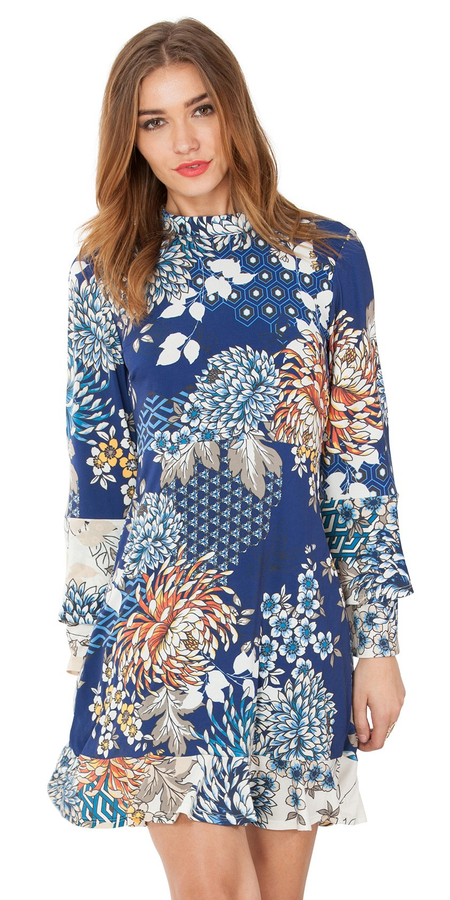 Flutter Floral Wrap Dress