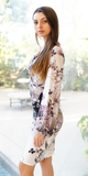 Fitted Floral Jersey Garden Dress