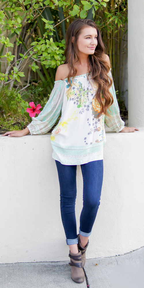Floral Off Shoulder Blouse