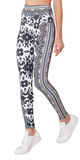 Beige Printed High Waist Leggings