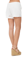 Ivory Cotton Eyelet Shorts