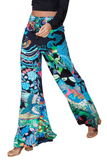 Printed Wrap Tied Wide Leg Pants