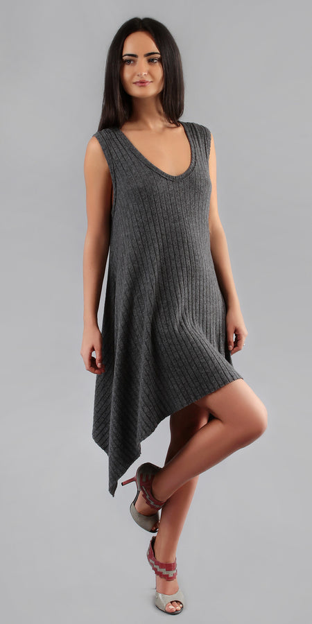 Fitted Spaghetti Strap Ribbed Dress