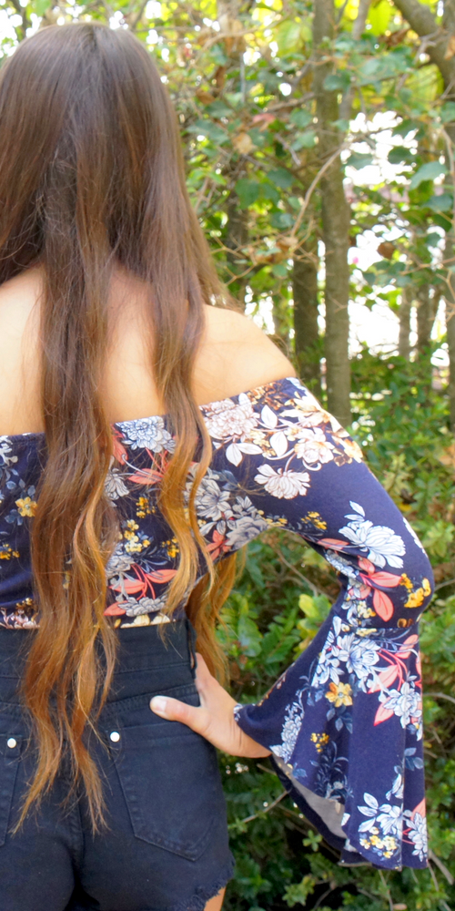 Scoop Neck Floral Bodysuit
