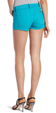 Turquoise Blue Denim Shorts