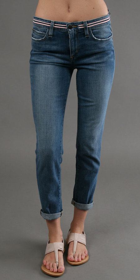 Light Blue Distressed Stretch Denim Skinny Jeans