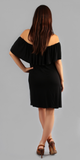 Black Off Shoulder Tunic Dress